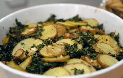 kale and potato gratin